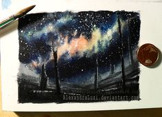 Galaxy-(ATC) by AlexandraLuzi.deviantart.com on @DeviantArt