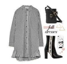 """""""Fall dresses"""" by miee0105 ❤ liked on Polyvore featuring Havva, Casetify and Topshop"""