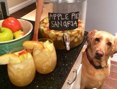Apple Pie Sangria!!! TO DIE FOR. cute puppy too :)
