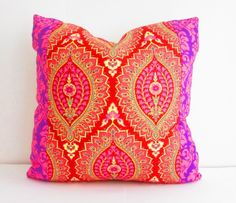 Purple and Pink Pillows Square Pillow Decorative by CityGirlsDecor, $29.00
