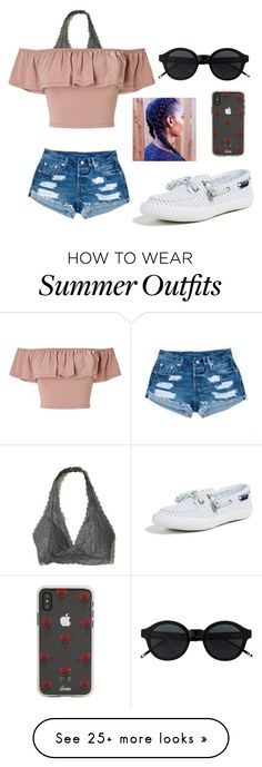 """Summer Fair outfit"" by monicalilliejacobs on Polyvore featuring Hollister Co., Miss Selfridge, Sperry and Sonix"