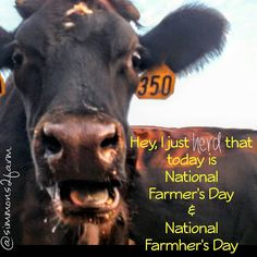 """National Farmer's & Farmer's Day!!! #nationalfarmersday #hugafarmer #farm247 #farm365 #farmlife #farmlove #familyfarm #farmfamily #farmer #farmher…"""