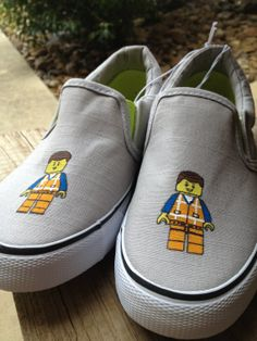 Hey, I found this really awesome Etsy listing at https://www.etsy.com/listing/179796335/hand-painted-emmet-lego-movie-shoes