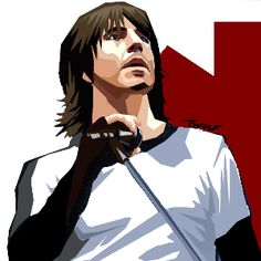 Anthony Kiedis! Red hot chilly peppers, vocalist,  vector artwork.
