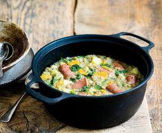 Bavorský čočkový eintopf   Recepty Albert Iron Pan, Kitchen, Recipes, Kitchens, Cooking, Ripped Recipes, Cuisine, Cucina