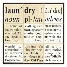Laundry Definition Sign   Cute for a laundry room