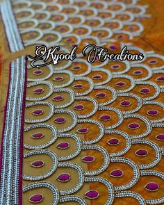 Cutwork Blouse Designs, Wedding Saree Blouse Designs, Simple Blouse Designs, Magam Work Blouses, Hand Embroidery Design Patterns, Blouse Designs Catalogue, Hand Work Blouse Design, Maggam Work Designs, Sleeve Designs