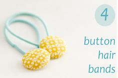 DIY Button Hair Bands