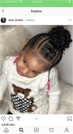 Little Girls Natural Hairstyles, Toddler Braided Hairstyles, Toddler Braids, Lil Girl Hairstyles, Black Kids Hairstyles, Braids For Kids, Girls Braids, Small Braids, Hairstyle Names