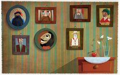Anna Láng on Behance Seven Dwarfs, Children's Book Illustration, My Children, Children's Books, Anna, Gallery Wall, Behance, Graphic Design, Home Decor