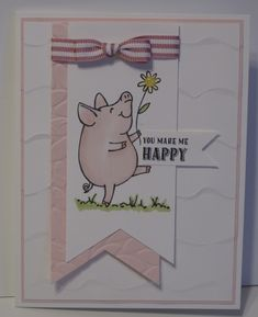 Happy Miss Piggy - A Cased Card