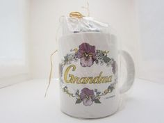 Grandma Grandmother Primrose Coffee Tea Mug Cup Notepads Gift Pack Mothers Day