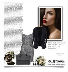 """Romwe 1/I"" by nermina-okanovic ❤ liked on Polyvore featuring WithChic, Oscar de la Renta and romwe"