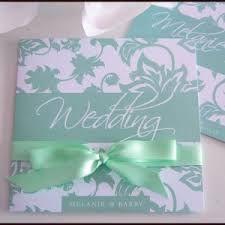 Resultado de imagen para invitaciones de boda con cintas mint