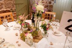 Vintage Rustic wedding table setting