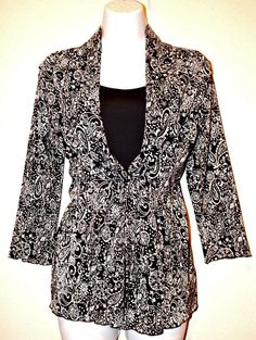 One Piece Double Layer Multi-color Crinckle Long Sleeve Women's Blouse Size M LN #Notations #Blouse #Casual