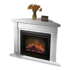 Electric Fireplace Heaters: Corner Electric Fireplace Heater| White Electric Fireplace