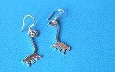 Hanging monkey earrings by SilverTemptation