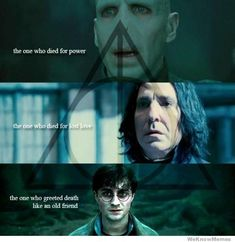 The irony of the Deathly Hallows. So many hidden details in HP.