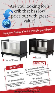 Argington Sahara Crib, stylistic yet affordable! #baby #cribs #crib