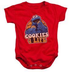 Sesame Street Cookie Monster - Cookies 4 Life Onesie