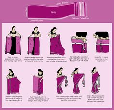 How to wrap a sari: http://ambee12.hubpages.com/hub/Indian-Clothing