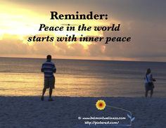 Peace in the world starts with inner peace