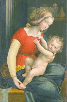 Defendente Ferrari:  Maria with child  (1526, after Raphael)