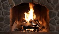 A roaring fireplace!