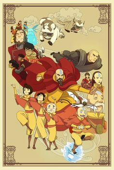 Some fan art for one of my favourite shows/series of all time, Avatar the Last Airbender and The Legend of Korra. Wanted to do a poster for each element with the characters commonly associated with each nation, rather than just benders (CABBAGE VENDOR! Avatar Airbender, Avatar Aang, Avatar Legend Of Aang, Avatar The Last Airbender Funny, The Last Avatar, Team Avatar, Avatar Cartoon, Avatar Funny, The Last Airbender