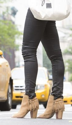 Fringe booties are a Fall necessity