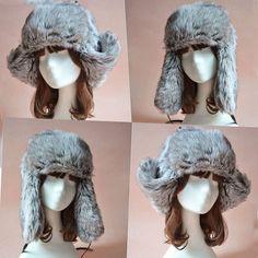7f8c178d3f9 Faux Fur Russian Trapper Hat Womens Mens Ear Warm Beret Cap Earflap Hat Snow