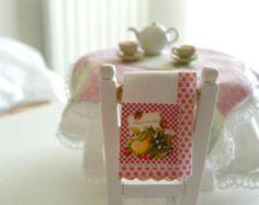 dollhouse miniature paper towel roll by Mondinadollhouse on Etsy