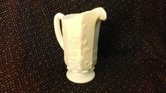 Stunning Westmoreland Panel Grape Milk Glass Footed Quart Pitcher by TheCelticBelle on Etsy
