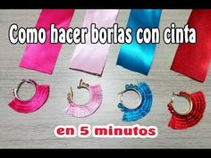 This video shows how to make Tassel Earrings. A new trendy tassel earrings Material Required: * Silk thread * Fabric Glue * Cardboard * Canvas Cloth * Stone. Diy Tassel Earrings, Denim Earrings, Tassel Jewelry, Thread Bracelets, Thread Jewellery, Ribbon Jewelry, Fabric Jewelry, Diy Ribbon, Ribbon Crafts