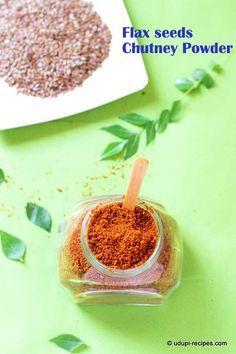 Flax Seeds Chutney Powder Recipe - Udupi Recipes