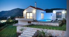 Villa Petunia - Authentic Crete, Villas in Crete, Holiday Specialists Style At Home, Mr2, Crete Holiday, Petunias, Mansions, House Styles, Modern, Bedrooms, Luxury Villa