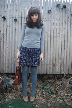 The skirt and the sweater are the perfect combination.