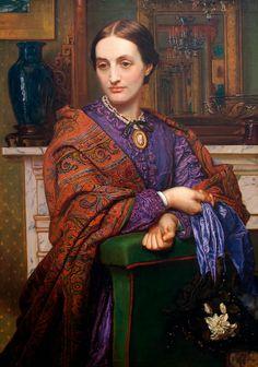 In the Swan's Shadow: Portrait of Fanny Holman Hunt (detail)