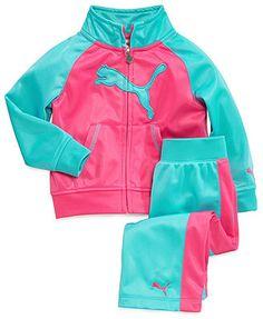 Puma Baby Girls' 2-Piece Tricot Jacket & Pants Set