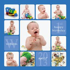 Cake Smash template, Story board template, Cake Smash Storyboard, 12x12, Collage template, Blog Board, Birthday Collage. $6.00, via Etsy.