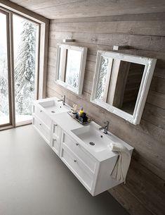Compab Arredobagno, mobili componibili per il bagno con estetica classica e moderna. White Doors, Double Vanity, Interior Design, Furniture, Luigi, Mirrors, Home Decor, Bathrooms, Blog