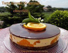 Orange and chocolate mousse cake - Orange and chocolate mousse cake - Köstliche Desserts, Delicious Desserts, Yummy Food, Donut Recipes, Cake Recipes, Dessert Recipes, Tarte Orange, Biscuit Cupcakes, Cheesecake