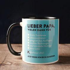 """Die Tasse für Papa ist ein tolles Geschenk für jeden Anlass! Ein kleines Geschenk um """"Danke"""", """"Entschuldigung"""" oder """"Alles Gute!"""" zu sagen. Mit dieser Tasse verschönerst du deinem Papa bestimmt den Tag ☺ ."""