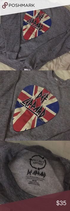 NWT Def Leppard Sweatshirt Sweater Top Brand new with tags! Size M. Retail $46. Extremely soft. #wildfox Project Karma Tops Sweatshirts & Hoodies