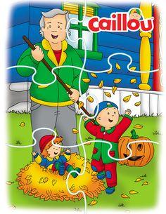 Caillou's Fall Fun – Printable Puzzle!
