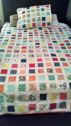 Full size Quilt with pillow sham with Stippling