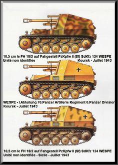 WESPE - Leichte Feldhaubitze 18 auf Fahrgestell Panzerkampfwagen II (SdKfz 124)