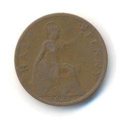 Items similar to George V Half Penny 1927 Coin (Code: on Etsy English Coins, Postcards For Sale, Coins For Sale, Coding, Personalized Items, Unique Jewelry, Stamps, June, British