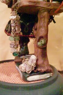 Southern OOAKS: Double...Double..Mix a batch!!! Back view of Bella, the Dragonfly witch ooaks.